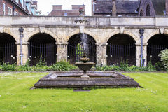 Claustro en la abadía de Westminster, Londres Imagenes de archivo