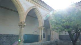 Claustro fa Cemiterio Tomar video d archivio
