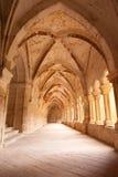 Claustro gótico. Monasterio de Santa María de Valbu Imagen de archivo libre de regalías