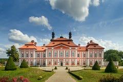 Claustro Marianska Tynice - República Checa Imagen de archivo libre de regalías
