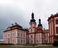 Claustro Marianska Tynice - república checa Foto de Stock