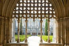 Claustro real de Santa Maria da Vitoria Monastery, Batalha, Est imagem de stock royalty free