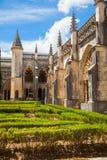Claustro real del monasterio de Batalha Imagenes de archivo