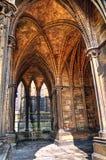 Claustro saltado, catedral de Lincoln, Inglaterra fotos de archivo