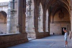 Claustro - Santiago de Compostela Fotografía de archivo libre de regalías
