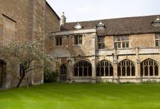 Claustros de la abadía Foto de archivo libre de regalías