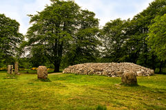 Clava Cairns Inverness Scotland. Clava Cairns are a well-preserved 4,000 year old Bronze Age group of two passage graves surrounded each by a circle of standing Stock Photo