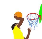 Clavada de golpe del baloncesto Imágenes de archivo libres de regalías