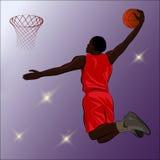 Clavada del baloncesto - ejemplo Imagen de archivo