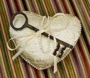 Clave al corazón foto de archivo libre de regalías