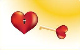 Clave al corazón de la persona querida Imagen de archivo
