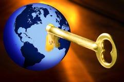 Clave al mundo Stock de ilustración