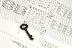 Clave al nuevo hogar futuro fotografía de archivo libre de regalías