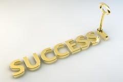 Clave al éxito Imagen de archivo libre de regalías