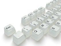 Clave blanco en un teclado Fotografía de archivo