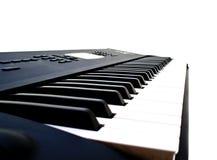 Clave blanco y negro del piano Imagen de archivo libre de regalías