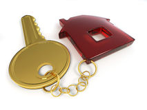 Clave con el hogar Imagen de archivo libre de regalías