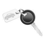 Clave con la etiqueta del coche Fotos de archivo libres de regalías