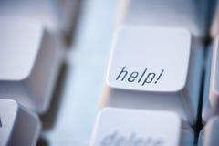 Clave de ayuda en el teclado de ordenador Fotografía de archivo