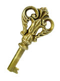 Clave de bronce antiguo fotografía de archivo