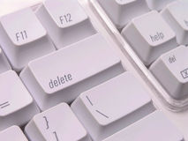 Clave de cancelación en el teclado fotos de archivo libres de regalías