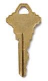 Clave de cobre amarillo imagen de archivo libre de regalías