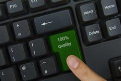 Clave de la calidad Imagen de archivo libre de regalías