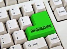 Clave de la información Imagen de archivo libre de regalías