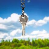 Clave de la puerta foto de archivo libre de regalías
