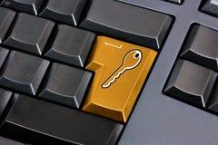 Clave de la seguridad Imagen de archivo libre de regalías