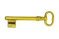 Clave de oro Imagen de archivo libre de regalías
