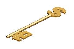 Clave de oro al hogar Imágenes de archivo libres de regalías