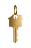 Clave de oro a una casa ideal Imagen de archivo libre de regalías