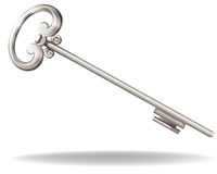 Clave de plata Fotografía de archivo