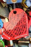 Clave del amor Foto de archivo libre de regalías