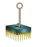 Clave del chip de ordenador Imágenes de archivo libres de regalías
