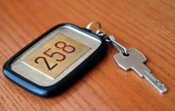 Clave del hotel Fotografía de archivo libre de regalías
