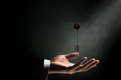 Clave del oro Imágenes de archivo libres de regalías