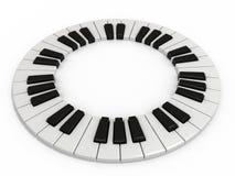 Clave del piano Imágenes de archivo libres de regalías