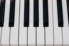 Clave del piano Fotografía de archivo libre de regalías