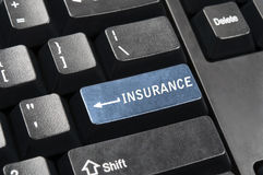 Clave del seguro Imágenes de archivo libres de regalías