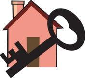 Clave delante de una casa ilustración del vector