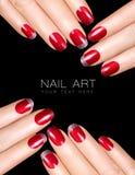 Clave el arte Esmalte de uñas de lujo Etiquetas engomadas del clavo Fotos de archivo