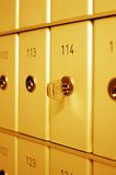 Clave en caja fuerte de la batería Foto de archivo libre de regalías