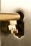 Clave en el ojo de la cerradura Imagen de archivo