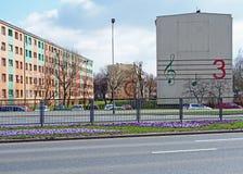 Clave en una pared, Jelenia Gora, Polonia Imagenes de archivo