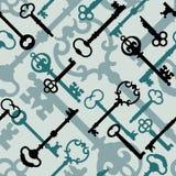 Clave esquelético Pattern_Blue-Green Fotos de archivo libres de regalías