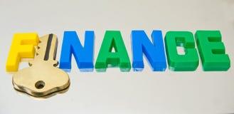 Clave a financiar: ¿insignia posible? imagen de archivo libre de regalías