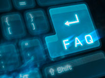 Clave importante - FAQ imagen de archivo libre de regalías