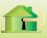 Clave a la casa ilustración del vector